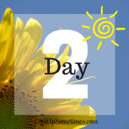 Day 2 – It All Starts With a Promise